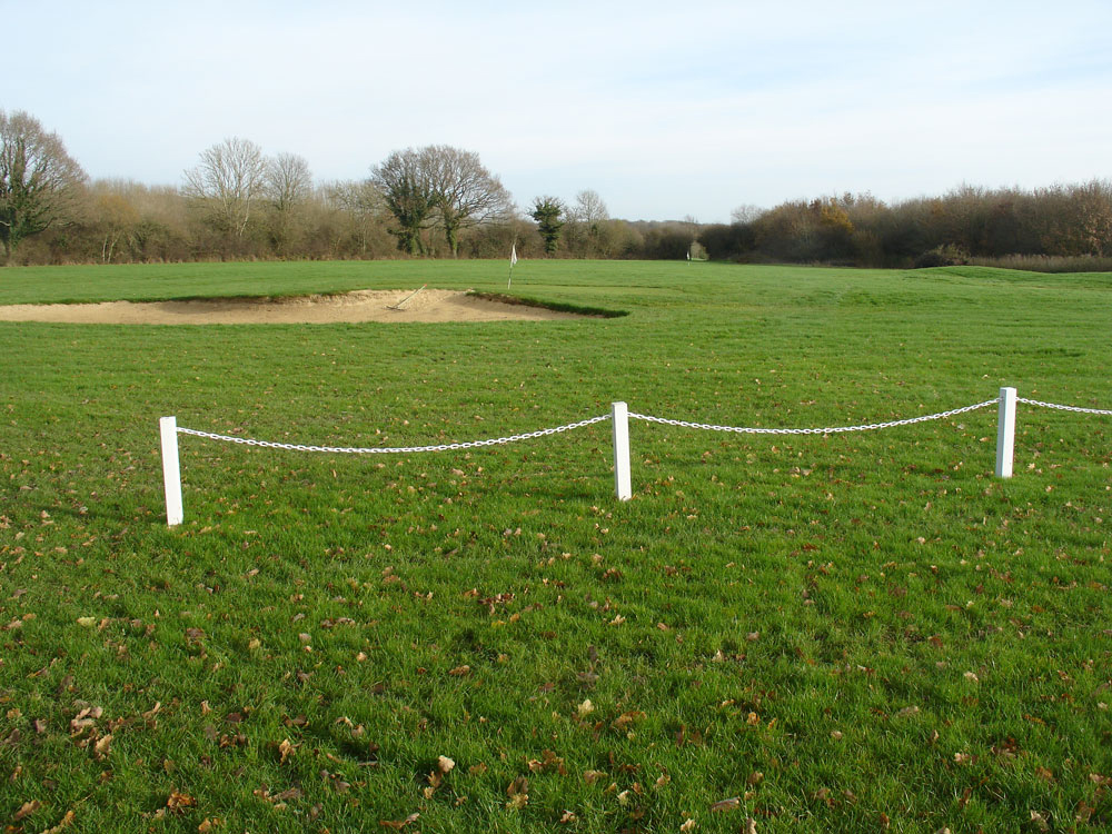 Golf Course Post And Chain Link Fencing