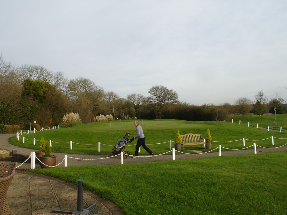 Golf Course Posts And Chain Fencing