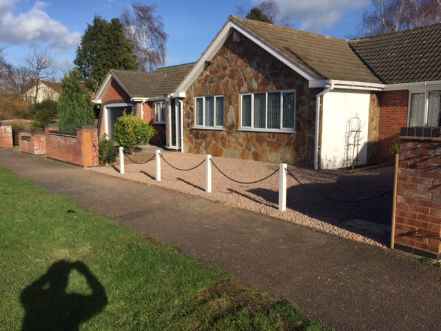 White Post and Chain Fencing