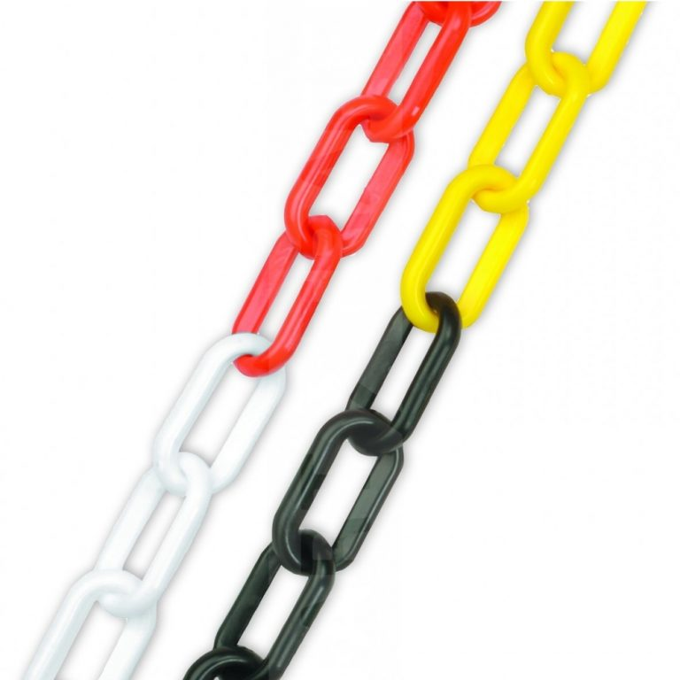 8mm health and safety plastic chain dual colours