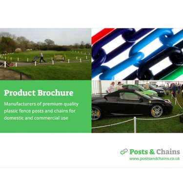 product brochure for post and chain fencing