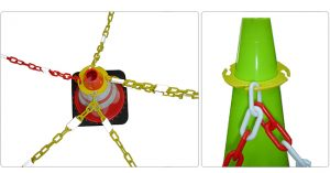 Plastic Cone And Chain Barrier