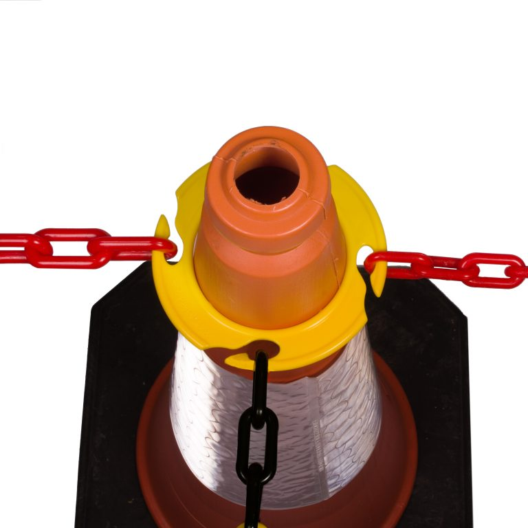 traffic cone chain holder